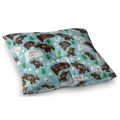 Cheerful Reindeer Floor Pillow Size: 23 x 23