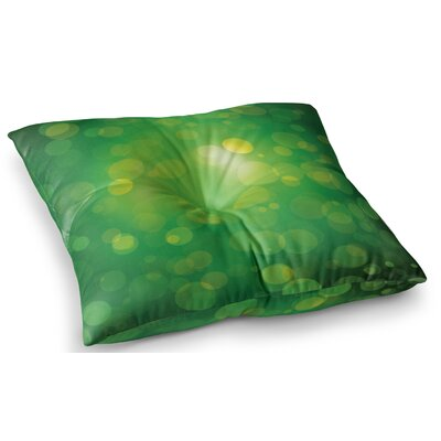 Radioactive Bokeh Floor Pillow Size: 23 x 23