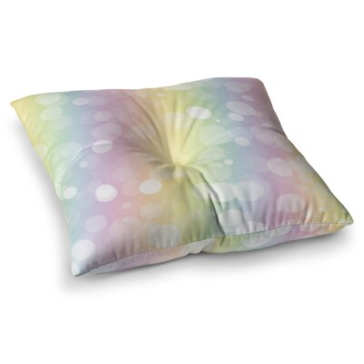 Pastel Prism Rainbow Bokeh Floor Pillow Size: 26 x 26