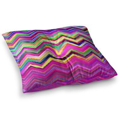 Colorful Chevron by Dawid Roc Floor Pillow Size: 26 x 26