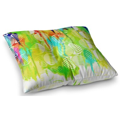 Poddy Combs - Wet Paint by Dan Sekanwagi Floor Pillow Size: 23 x 23