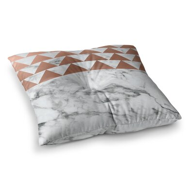 Marble and Metal Square Floor Pillow Size: 26 x 26