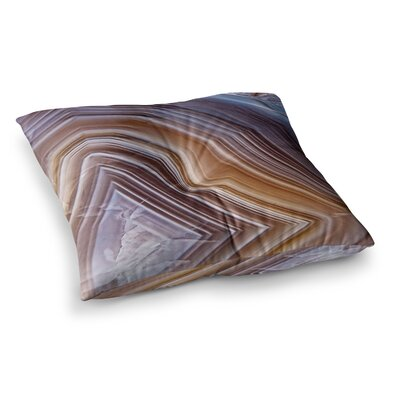 Pale Layered Agate Square Floor Pillow Size: 23 x 23