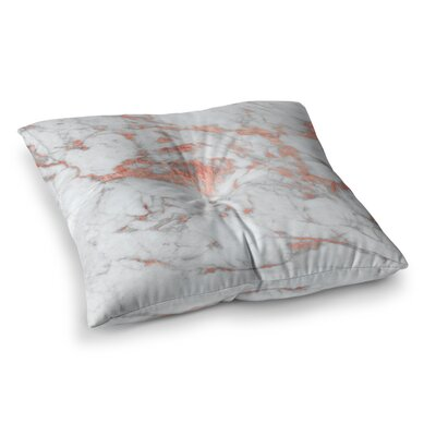 Rose Flake Square Floor Pillow Size: 26 x 26