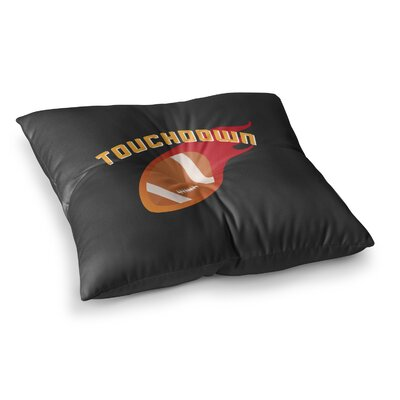 Touchdown XLVI Sports Football Square Floor Pillow Size: 23 x 23