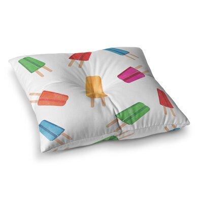 Raining Popsicle Digital Square Floor Pillow Size: 26 x 26