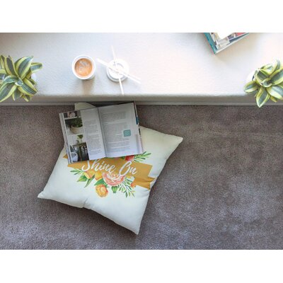 Shine on Square Floor Pillow Size: 26 x 26