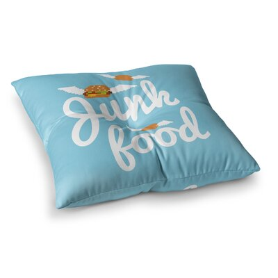 Junk Food Burger Square Floor Pillow Size: 23 x 23