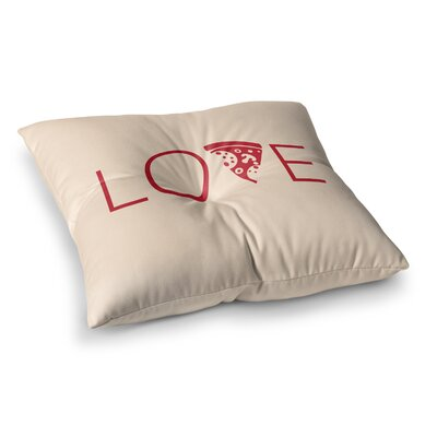 Slice of Love Square Floor Pillow Size: 26 x 26