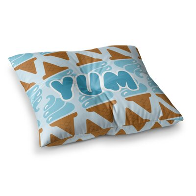 Yum! Ice Cream Square Floor Pillow Size: 23 x 23