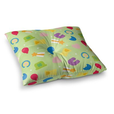 Charms of Luck Square Floor Pillow Size: 23 x 23