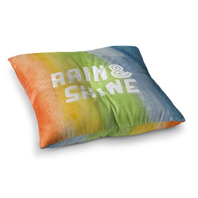 Rain and Shine Abstract Square Floor Pillow Size: 26 x 26