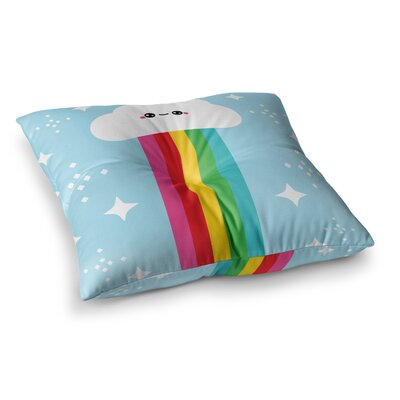 Mr. Rainbow Kids Square Floor Pillow Size: 23 x 23