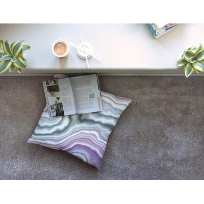 Wild Boysenberry Geological Square Floor Pillow Size: 23 x 23