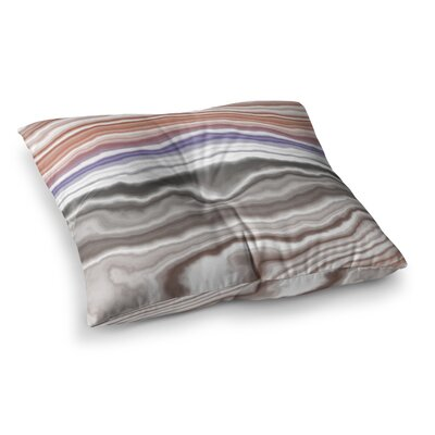 Iris Lake Bed Geological Abstract Square Floor Pillow Size: 26 x 26
