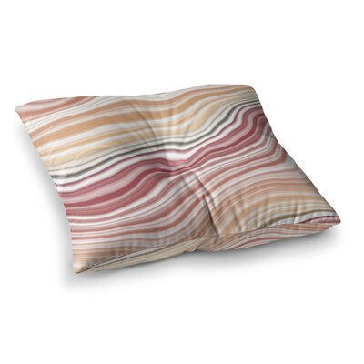 Sunset Brick Maroon Square Floor Pillow Size: 23 x 23