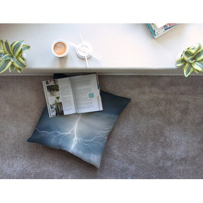 Lightning Storm Square Floor Pillow Size: 26 x 26