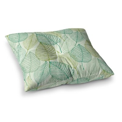 Make Like a Tree Pattern Square Floor Pillow Size: 23 x 23