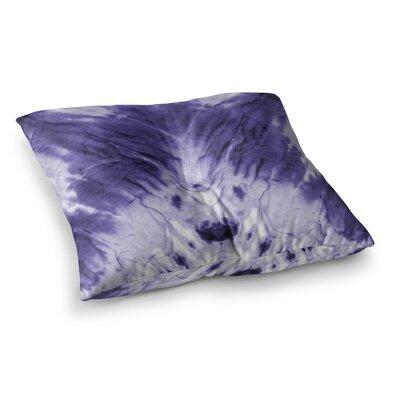Dye Pattern Square Floor Pillow Size: 23 x 23, Color: Purple