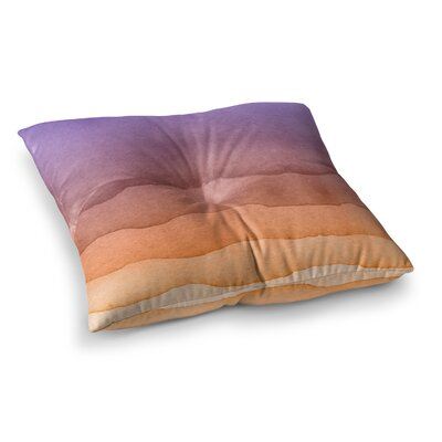 Ombre Abstract Square Floor Pillow Size: 26 x 26, Color: Purple/Orange