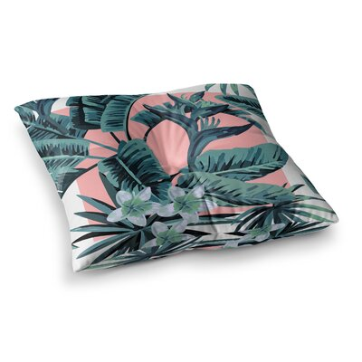Monstera Pop Art Square Floor Pillow Size: 23 x 23