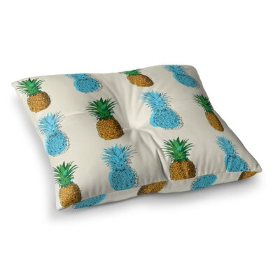 Fineapple Food Abstract Square Floor Pillow Size: 23 x 23