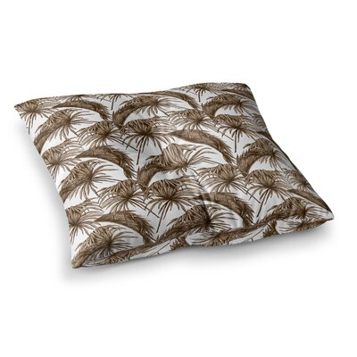 Palmtastic Square Floor Pillow Size: 26 x 26, Color: Brown