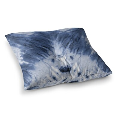 Dye Pattern Square Floor Pillow Size: 23 x 23, Color: Blue