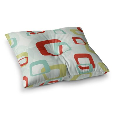 Retro Square Floor Pillow Size: 23 x 23