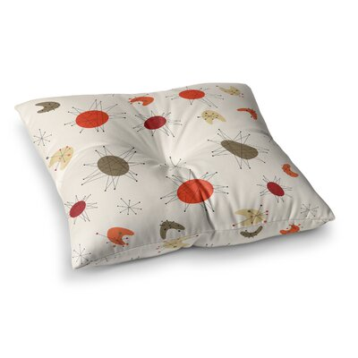Retro Party Square Floor Pillow Size: 23 x 23