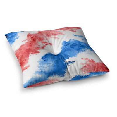 Patriotic Watercolor Square Floor Pillow Size: 23 x 23