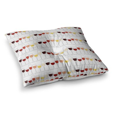 Fine Wines Square Floor Pillow Size: 23 x 23