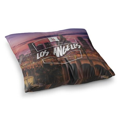 Los Angeles ll Square Floor Pillow Size: 23 x 23