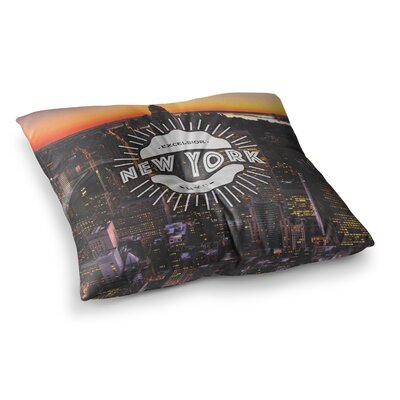 New York Square Floor Pillow Size: 26 x 26