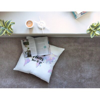 The Places Youll Go Square Floor Pillow Size: 26 x 26