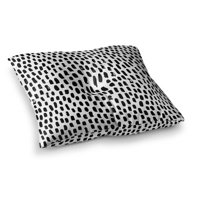 Ink Dots Square Floor Pillow Size: 26 x 26