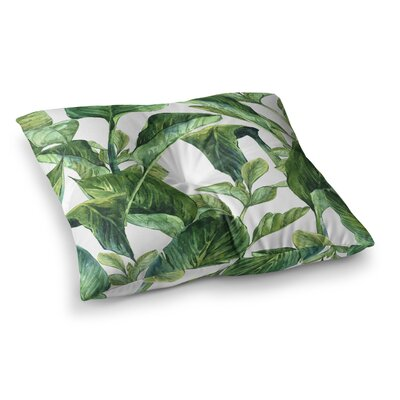 Banana Leaves Square Floor Pillow Size: 26 x 26
