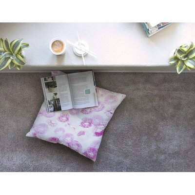 Kristi Jackson Kiss Me Square Floor Pillow Size: 26 x 26