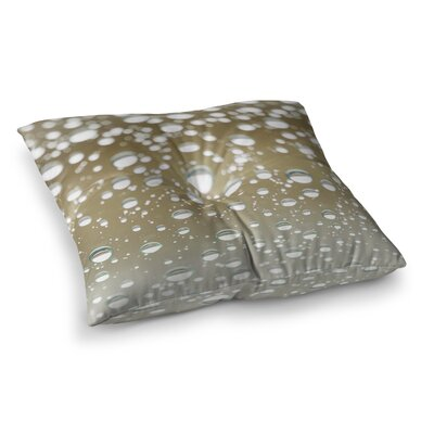 Kristi Jackson Neutral Rain Square Floor Pillow Size: 23 x 23