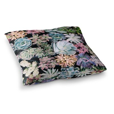 Kristi Jackson Succulent Gathering Photography Square Floor Pillow Size: 23 x 23