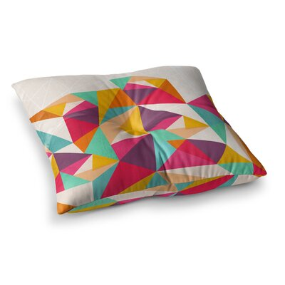 Kathleen Kelly Diamond Geometric Square Floor Pillow Size: 26 x 26