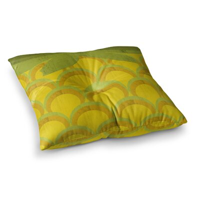 Kathleen Kelly Pineapple Digital Food Square Floor Pillow Size: 23 x 23