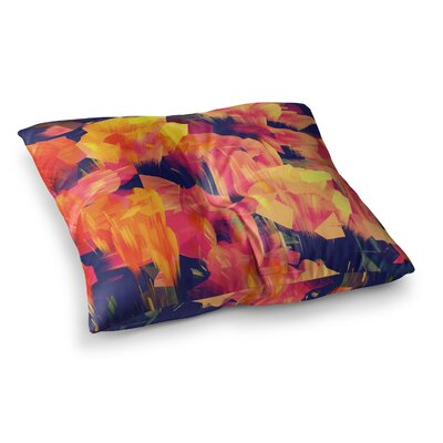 Kathryn Pledger Geo Flower Abstract Square Floor Pillow Size: 26 x 26