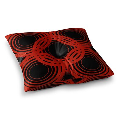 Kathryn Pledger Geo Crimson Geometric Square Floor Pillow Size: 26 x 26