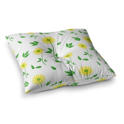 Louise Daisy Square Floor Pillow Size: 23 x 23