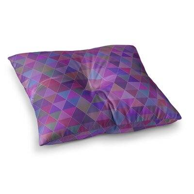 Louise Abstract Square Floor Pillow Size: 23 x 23
