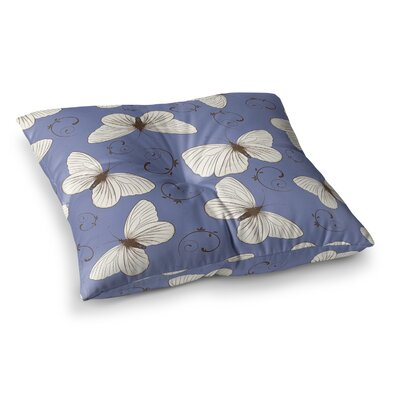 Louise Butterflies Square Floor Pillow Size: 26 x 26