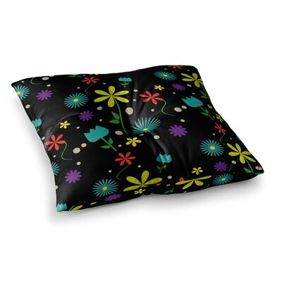 Louise Flower I Square Floor Pillow Size: 23 x 23
