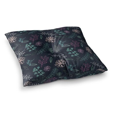Louise Flower III Square Floor Pillow Size: 26 x 26