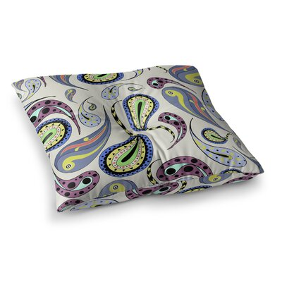 Louise Pattern II Pattern Square Floor Pillow Size: 26 x 26